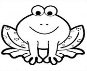 Coloriage grenouille coeurs