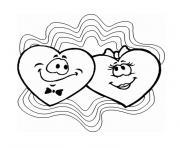 coeur saint valentin dessin à colorier