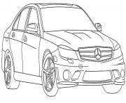 voiture de luxe dessin à colorier