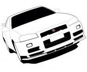 Coloriage F1 Car White Label dessin