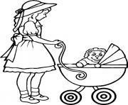voiture bebe dessin à colorier