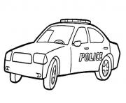 Coloriage voiture police