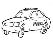 voiture police dessin à colorier