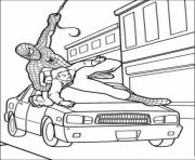 Coloriage voiture spiderman