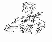 image voiture animee dessin à colorier