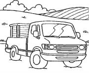 Coloriage voiture camion