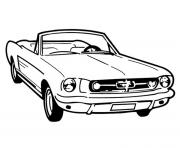 voiture mustang dessin à colorier