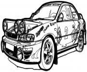 voiture subaru dessin à colorier