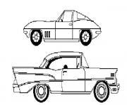 dessin voiture americaine dessin à colorier