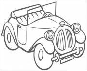 image voiture ancienne dessin à colorier