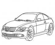 image voiture bmw dessin à colorier