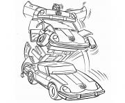 Coloriage transformers voiture