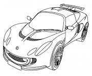 voiture moderne dessin à colorier