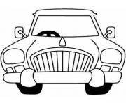 dessin voiture caricature dessin à colorier