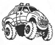 image voiture 4x4 dessin à colorier