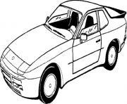 dessin voiture porsche dessin à colorier