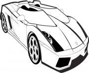 voiture lamborghini dessin à colorier