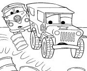 Coloriage dessin voiture cars