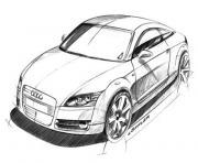 image voiture audi dessin à colorier