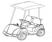 Coloriage voiture golf