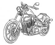 voiture moto dessin à colorier
