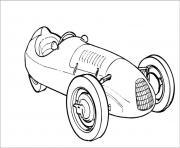 voitures anciennes dessin à colorier