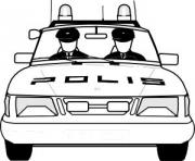 Coloriage dessin voiture police