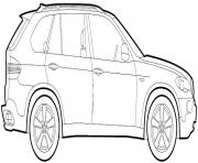 Coloriage image voiture bmw 2009