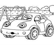 image voiture coccinelle dessin à colorier