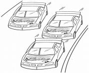 voiture nascar dessin à colorier
