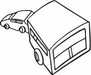 voiture remorque dessin à colorier