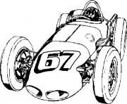 dessin voiture de course dessin à colorier