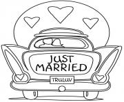 Coloriage dessin voiture mariage