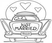 dessin voiture mariage dessin à colorier