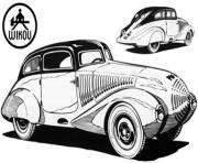dessin voiture ancienne dessin à colorier