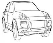 voiture porsche dessin à colorier