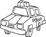 dessin voiture de police dessin à colorier