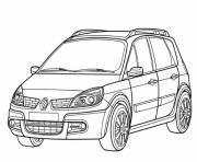 voiture renault dessin à colorier