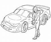 dessin voiture course dessin à colorier