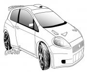 Coloriage dessin voiture tuning a colorier