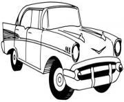 voiture ancienne dessin à colorier