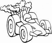 voiture course dessin à colorier
