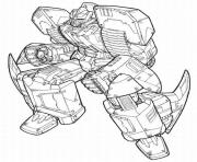 Coloriage voiture transformers