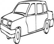 image voiture a colorier dessin à colorier
