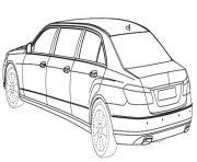 voiture limousine dessin à colorier