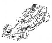 image voiture course dessin à colorier