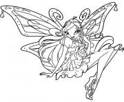 Coloriage winx enchantix