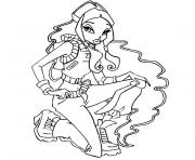 Coloriage winx mini fee dessin