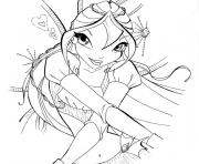 winx bloom enchantix dessin à colorier