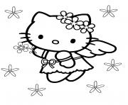Coloriage hello kitty mariage